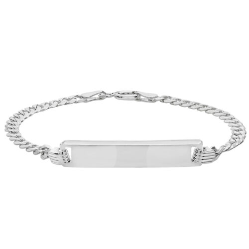 925 Sterling Silver Baby Christening Curb ID Bracelet 5.5 **FREE ENGRAVING**