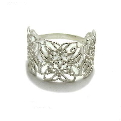 Genuine Filigree Sterling Silver Celtic Ring Solid 925 R001778 Empress