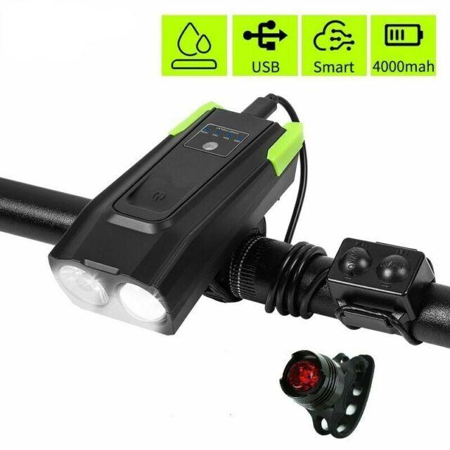 Bike Light USB Rechargeable Bicycle Front Light 2000mAh//1000 Lumens LED Light