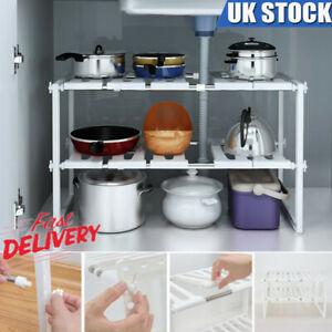 Under-Kitchen-Sink-Shelf-Storage-Adjustable-Cupboard-Rack-Cabinet-Organiser-Unit
