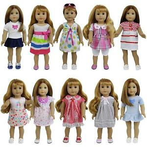 8-Sets-Girl-Baby-Doll-Clothes-Dress-Skirt-for-14-16-inch-18-034-Dolls-Kid-Gift-US