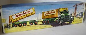 Repro-box-Matchbox-King-size-k-16-DODGE-tractor-with-twin-xjack-train