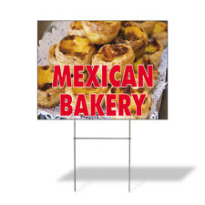 Weatherproof Yard Sign Mexican Bakery Advertising Printing A Yellow Lawn Garden