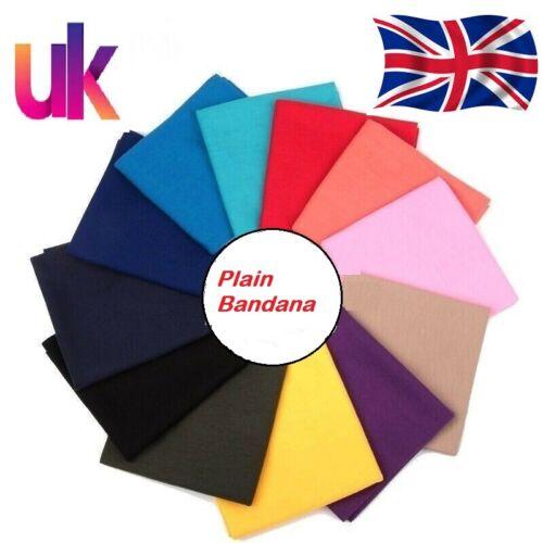 100/% cotton PLAIN BANDANA cow boy girl biker neck scarf head bandanna mix colour