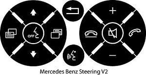 Mercedes benz matte black steering wheel button repair for Mercedes benz steering wheel control buttons