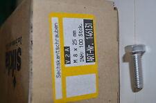 100 Stück V2A Sechskantschrauben M8x25mm von Sikla Nr. 146131