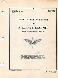 Details about I-1430-9 Aircraft Engine Service Instructions Flight Manual  (CD version)