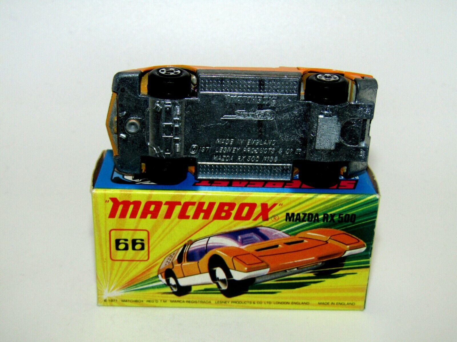 MatchBox Superfast No 66 Mazda RX500 Orange, UNPAINTED BASE VNMIB RARE