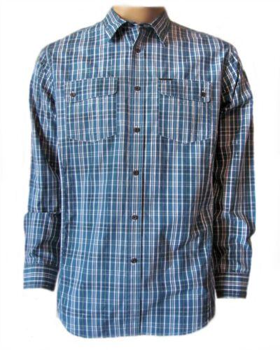 New ECKO UNLTD Men/'s Blue Plaid Casual Button Front Hi Low L//S Woven Shirt $59