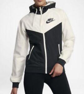 Details about Nike Women's NSW Windrunner Jacket WHITE BLACK SAIL Running 904306 134 XS