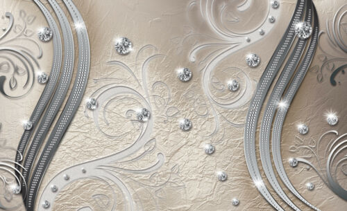 VLIES Fototapete-BLUMEN-DESIGN- 2046 -Luxus Diamanten Orchideen Pflanzen Blüten