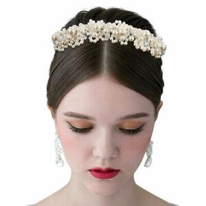 fresh styles hot sales new design Détails sur Bandeau bal Mariage Accessoires Cheveux Mariage Perles Crystal  Blanc Couronne PB