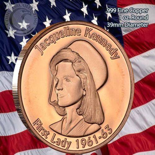 """Jackie Kennedy /""""First Lady/"""" 1 oz .999 Copper Round"""