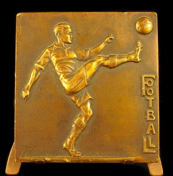 2019 Nouveau Style Médaille Football Soccer Sc Focht Dédicacée Par L'auteur à Grimault 1930 Medal Ture 100% Garantie