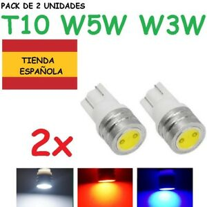 bombilla LED roja T10 bombilla de coche 6000K 12V W5W 2 Luces de posici/ón