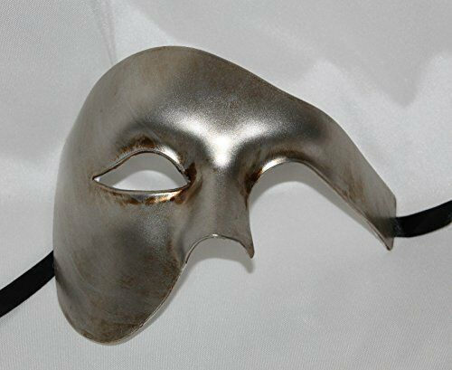 Choice of 5 Colours Mens Half Face Quality Phantom Mask White Black Gold Silver