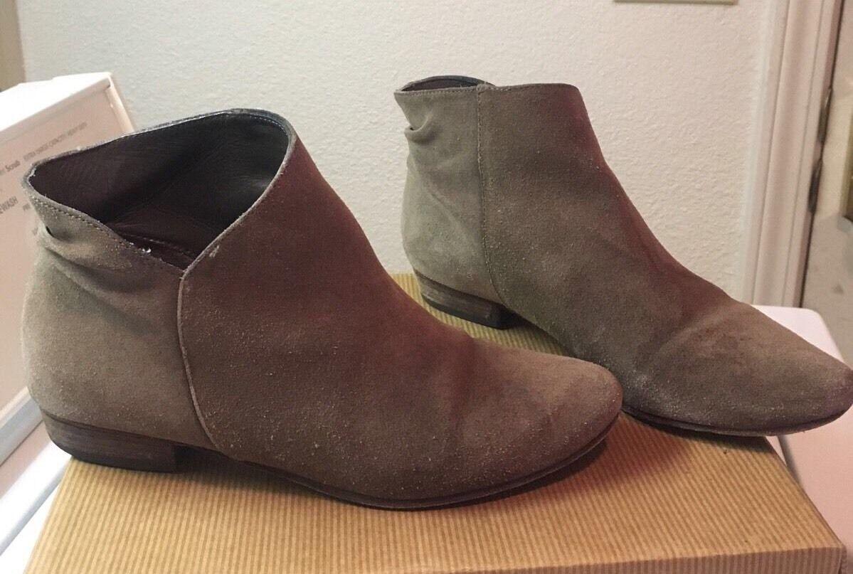 JOIE Morrison Tan Suede Leder Ankle Stiefel 7.5