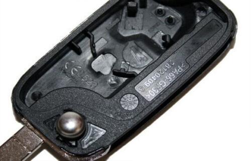 Nuevo clave plegable carcasa llave 2 teclas para renault a239