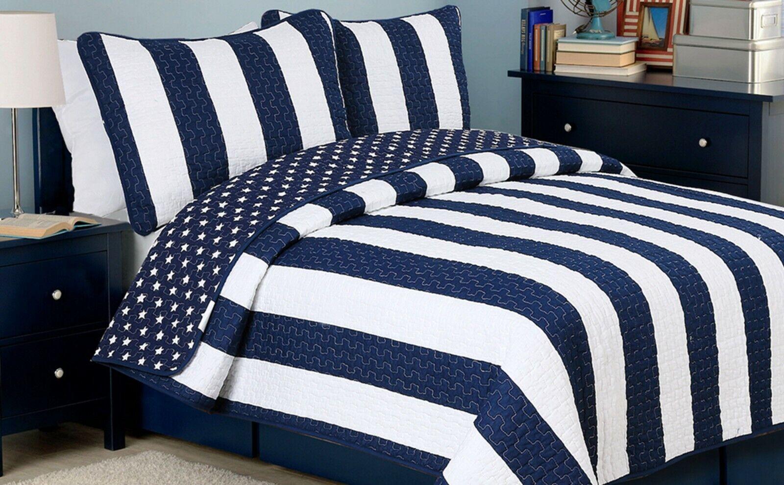 Ameristar Sailor Reversible Cotton Quilt Set, Bedspreads, Coverlet