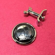 Mercedes Benz Flat Hood Emblem (AFFALTERBACH AMG) Metal Badge Bonnet
