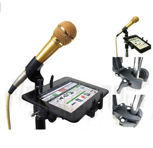premium selection 9e25e 70831 Details about Music Microphone Stand Mount for Apple iPad Mini iPhone 6s  Plus 6 Galaxy Note 5