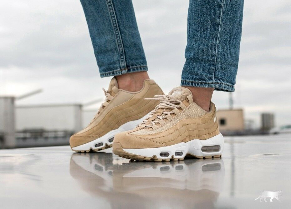 Womens Nike Air Max 95 OG Mushroom White Sail Uk Size 6 307960-201