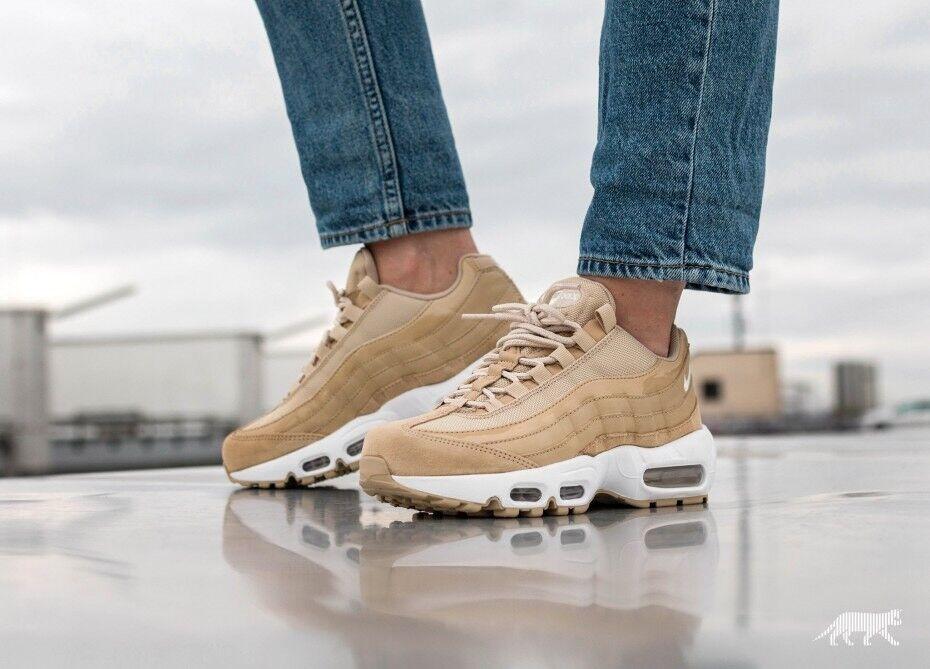 Damenschuhe Nike Air Max 95 OG Mushroom Weiß Sail Uk Größe 3.5 307960-201