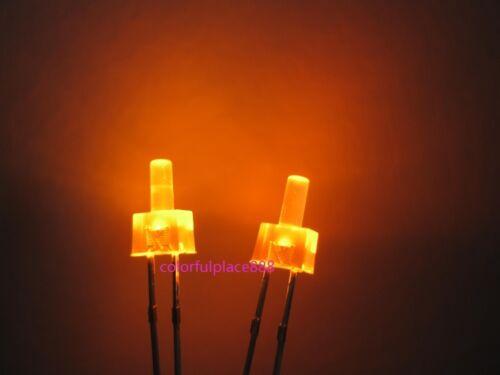 100pcs 2mm Orange Diffused LED Diodes Flat Top Leds Light Lamp Free Shipping New