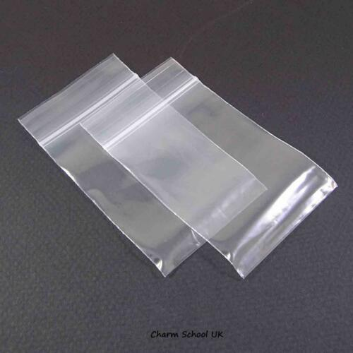 """100 CLEAR GRIPSEAL// ZIPLOCK REASEALABLE BAGS 2/"""" X 3/"""" 51 X 74mm PREMIUM QUALITY"""