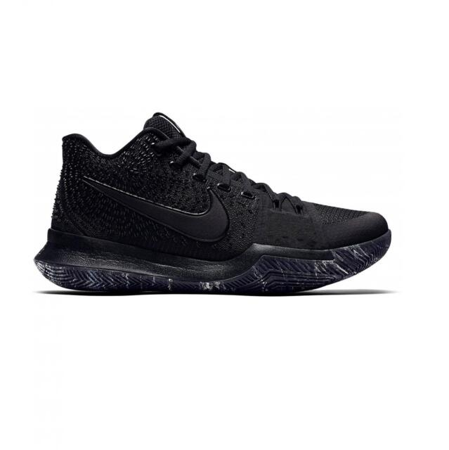 premium selection d3bc1 9f996 Mens NIKE KYRIE 3 Black Basketball Trainers 852395 005