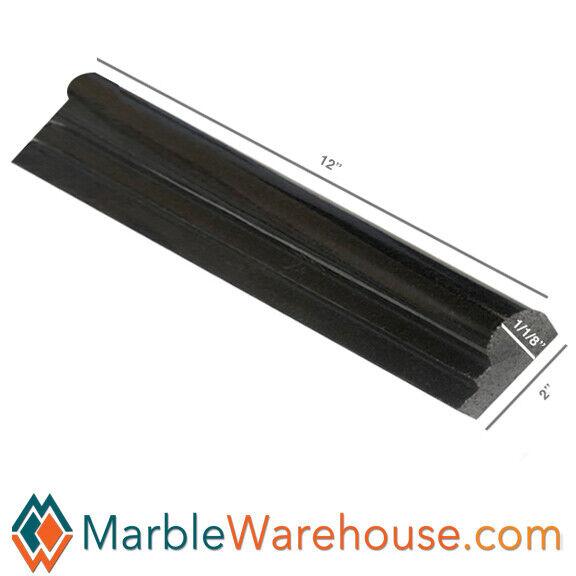 BLACK ABSOLUTE GRANITE CHAIR RAIL MOLDING WALL TILE EDGE