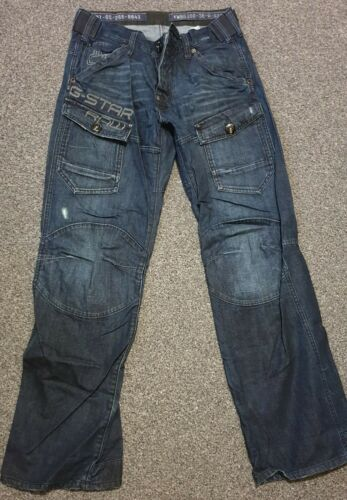 Mens G-Star Raw Jeans Blue W30 L32