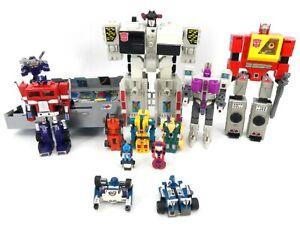 Vintage G1 Transformers Lot of 10 Optimus Prime Metroplex Blaster Mirage & More