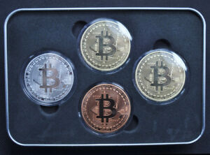 4Pcs-set-Bitcoin-Coins-Collectible-Gold-Silver-Copper-Bronze-Fast-Shipping