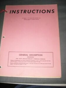 Lincoln Mercury Overhaul Manual Pictures of Cars 1950