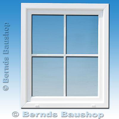 Fenster Kunstofffenster mit Sproßen weiß dreh-kipp Kunststoff Mehrzweckfenster