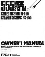 Rotel RV-555 Tuner Owners Manual