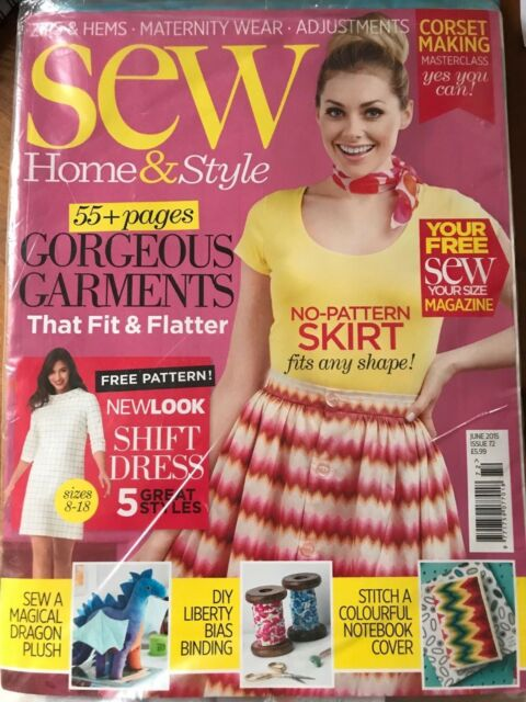 Sew Home & Style Magazine Issue 72 UNOPENED NEW June 2015 Edition