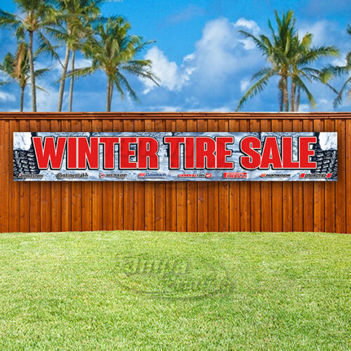 WINTER TIRE SALE Advertising Vinyl Banner Flag Sign LARGE HUGE XXL SIZES USA