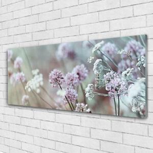 Wandbilder Glasbilder Druck auf Glas 125x50 Blumen Pflanzen
