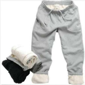 Winter-Warm-Mens-Cotton-Pants-Thicken-Casual-Fur-Lining-Sport-Jogger-Trousers