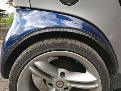 Para Smart tuning llantas 2x radlauf barras guardabarros ensanchamiento Carbon Look