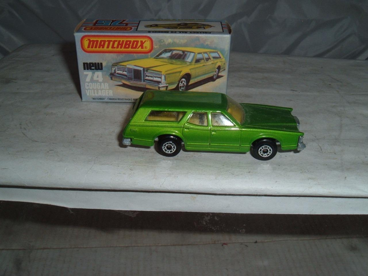 MATCHBOX SUPERFAST C COUGAR VILLAGER WITH ITS BOX PLEASE SEE THE PHOTOS