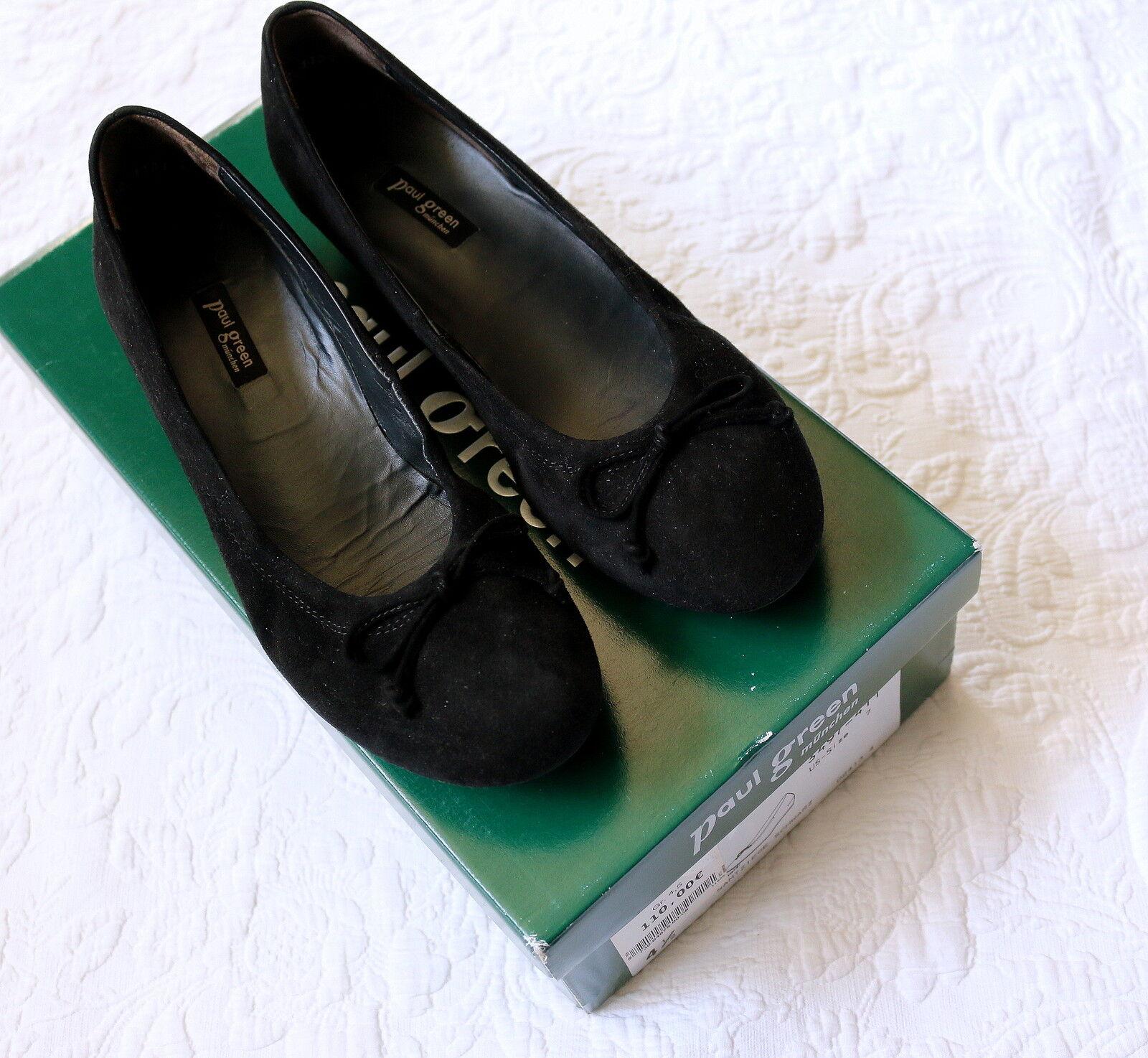 Paul verde de alta alta alta calidad con cuña-salón bailarinas nobuck 37,5 4,5 np.110, - nuevo  calidad fantástica