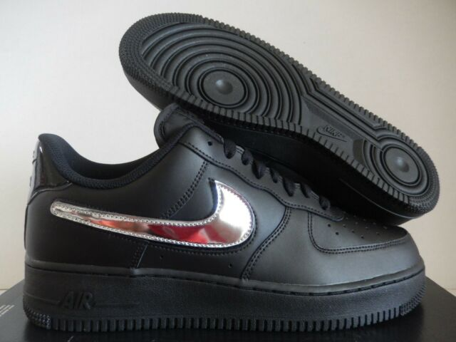 Nike Air Force 1 Low 07 Lv8 3 Removable Swoosh Black Gold Ct2252