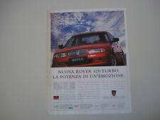 advertising Pubblicità 1994 ROVER 620 TURBO