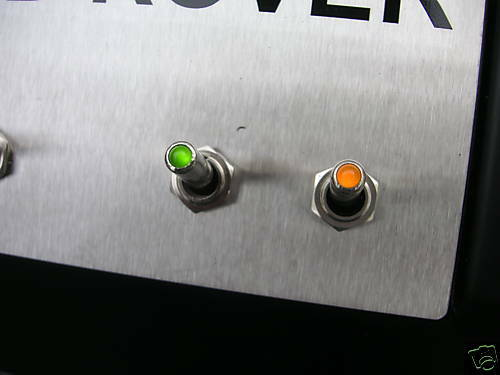 Metal Green LED Toggle Switch Kitcar//Dashboard//spot