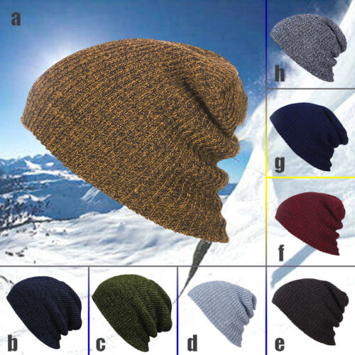 Hip-Hop Winter Warm Cotton Knit Ski Beanie Skull Cap Unisex Hat for Men Women
