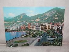 Vecchia cartolina foto d epoca di Salerno via lungomare e Giardini scorcio case