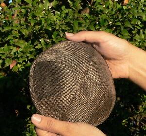 e0de1c3f8d5 Brown Kippah Woven Linen Kipah Jewish Hat Stylish Modern Yarmulke ...